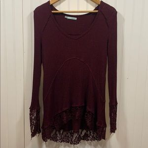 Maurices maroon knit tunic